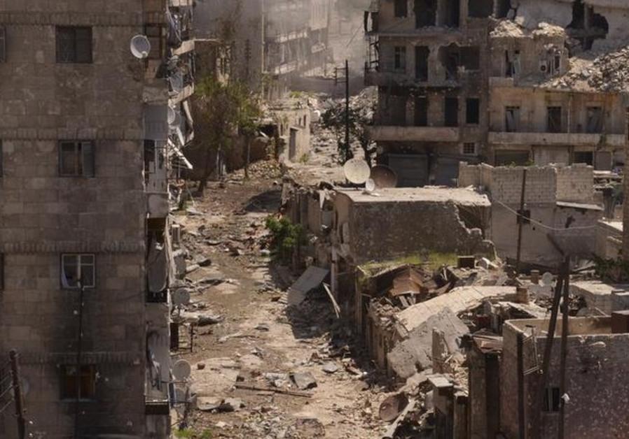 Destruction in Syria.
