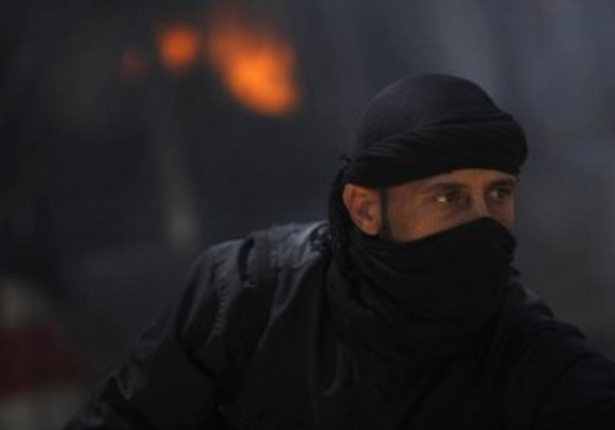 A Syrian rebel fighter.