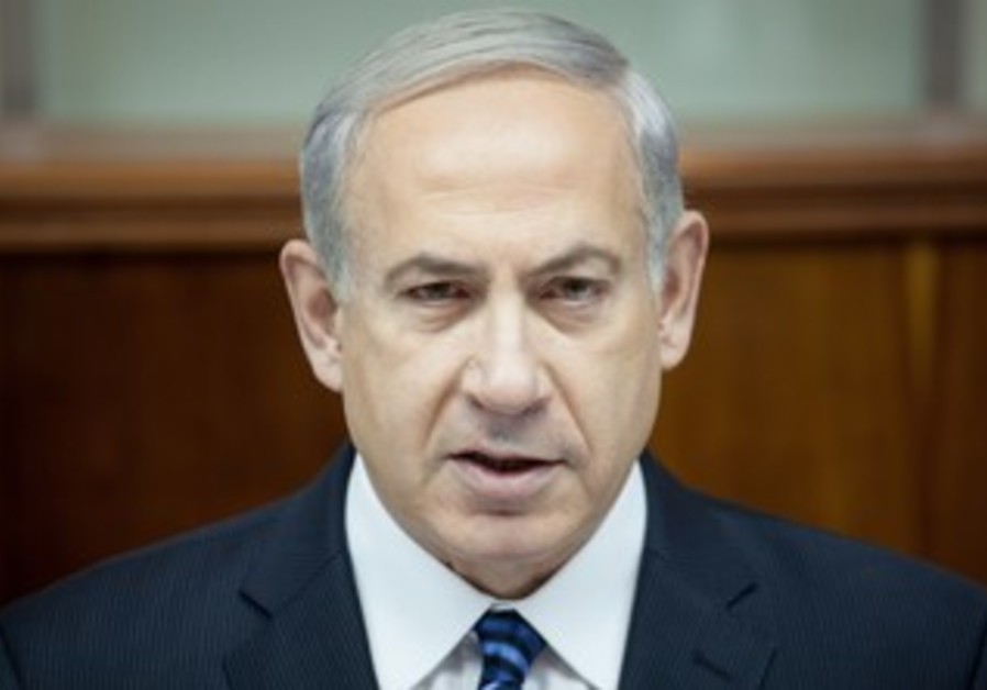 Prime Minister Netanyahu at the weekly cabinet meeting, May 19, 2013.