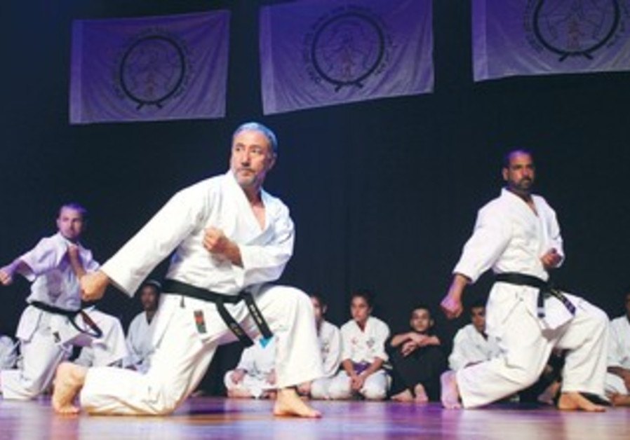 A BUDO for Peace performance at Kfar Shmaryahu. Participants included Jews and Arabs.