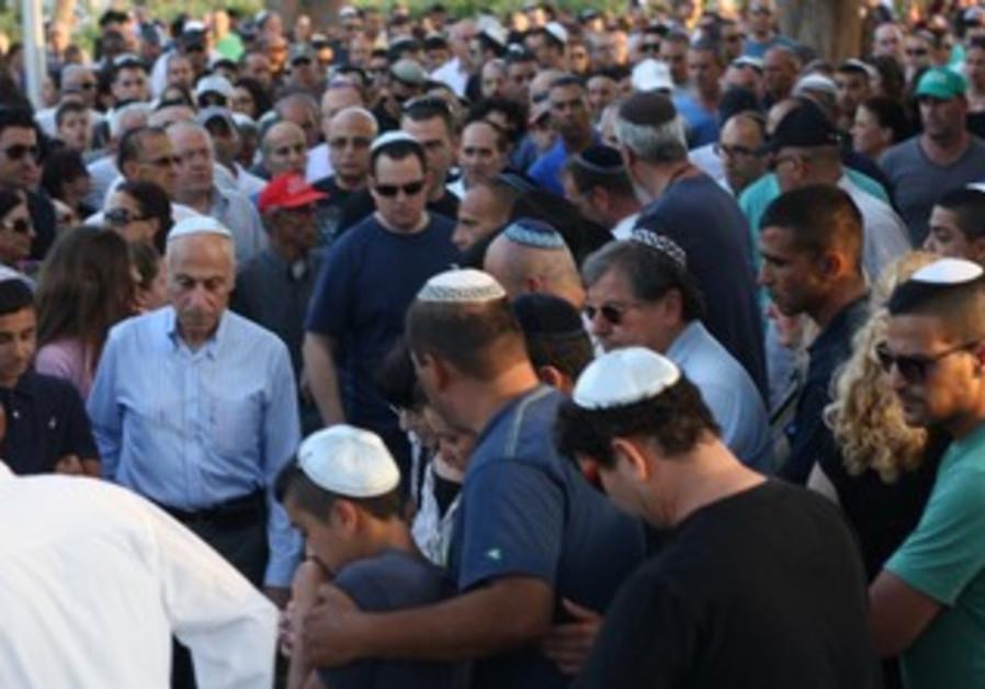 Funeral of Avner Cohen, victim of Beersheba shootout, 21 May 2013.