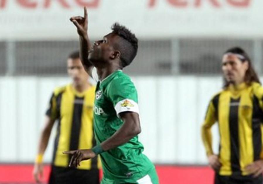 Taleb Tawatha shining for Maccabi Haifa.