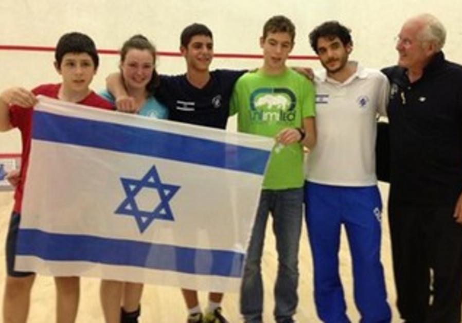 ISRAELI UNDER-15 squash delegation.