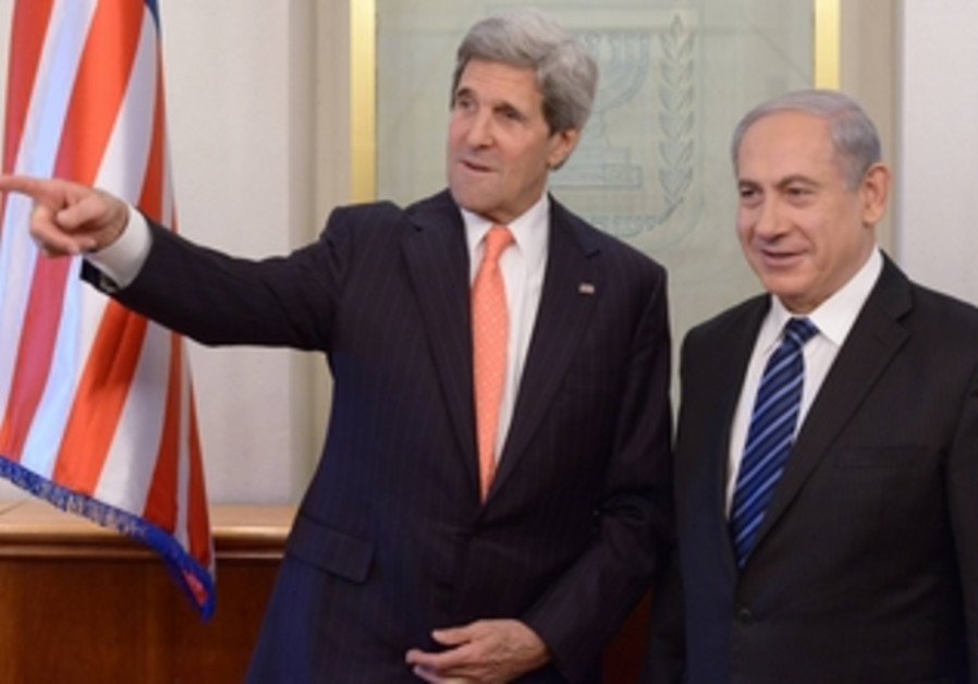 John Kerry and Binyamin Netanyahu meeting in Jerusalem, May 23, 2013.