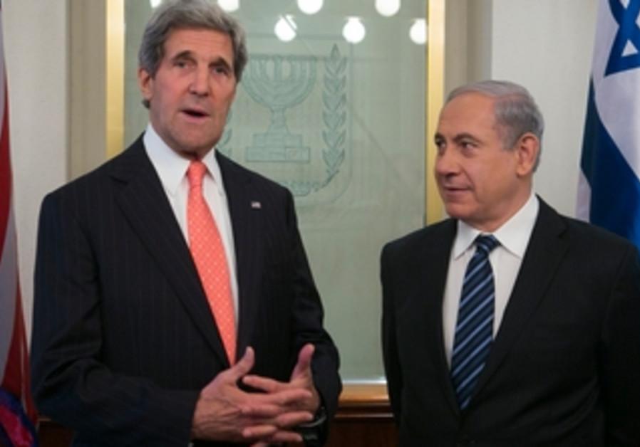 John Kerry and Binyamin Netanyahu meeting in Jerusalem, May 23, 2013.