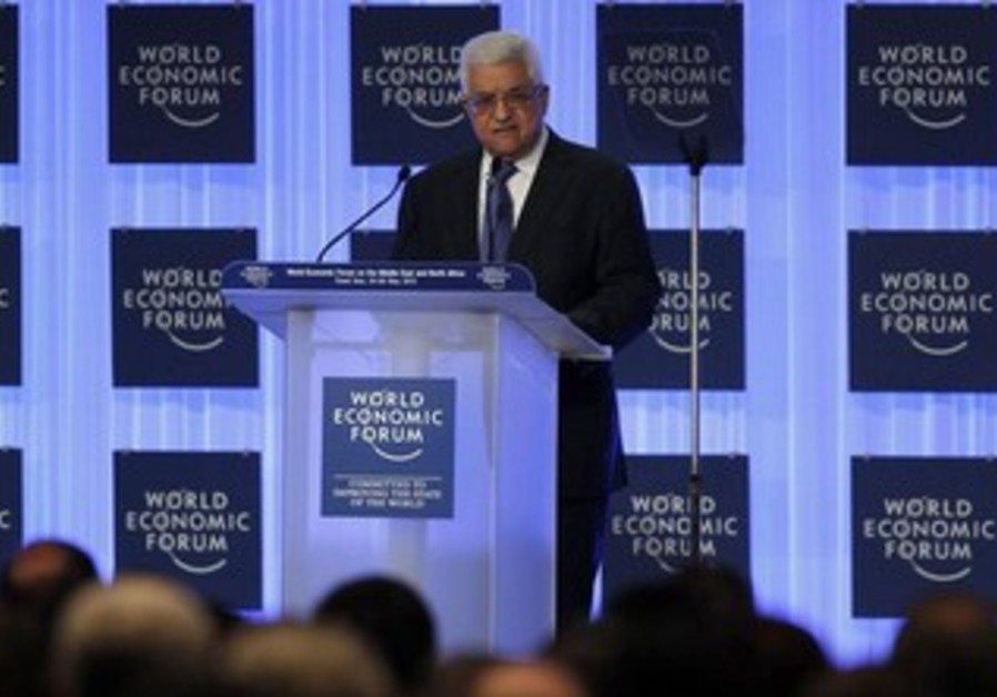 Palestinian President Mahmoud Abbas at the World Economic Forum, May 25, 2013.