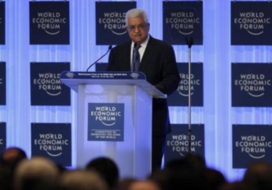 Palestinian President Mahmoud Abbas at the World Economic Forum, May 25, 2013.