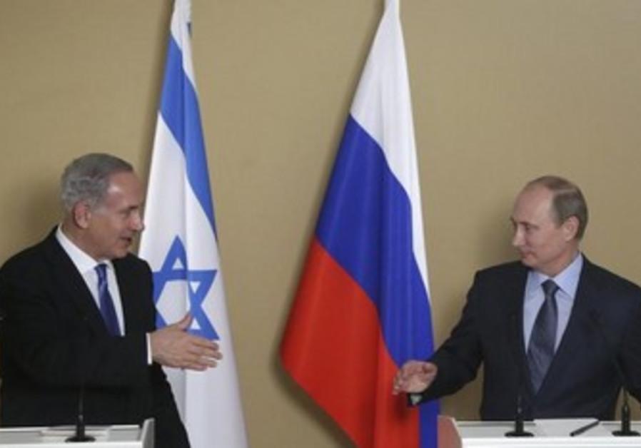 Russian President Vladimir Putin Prime Minister Netanyahu in the Black Sea, May 14, 2013.
