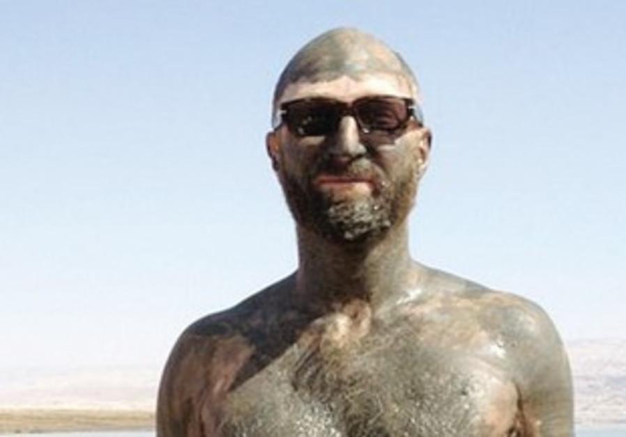 Jonathan Ames at the Dead Sea, Israel.