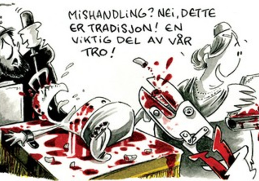 'Deeply offensive' cartoon from Norwegian daily 'Dagbladet'.