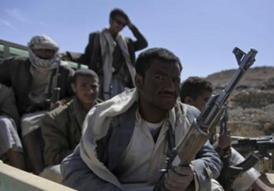 Yemen's al-Houthi Shi'ite fighters [file].