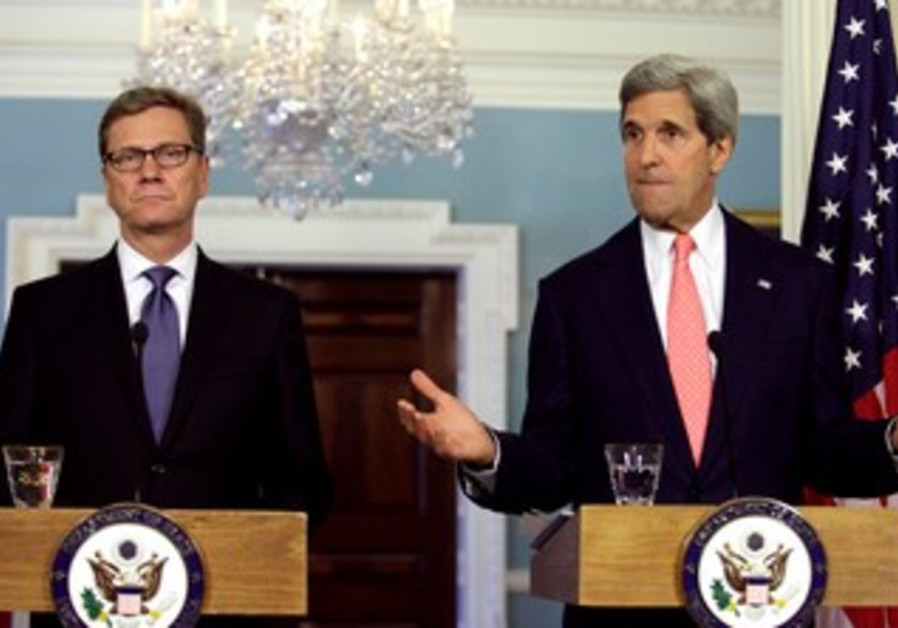Kerry and Westerwelle speak to media in Washington, May 31, 2013