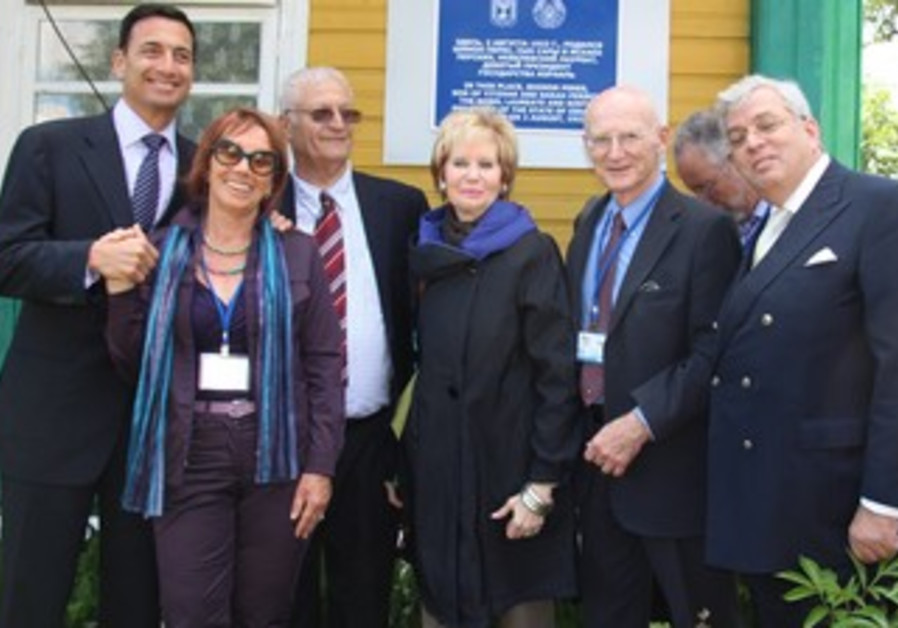 Limmud FSU chair, founders and  president with Peres's daughter and son-in-law