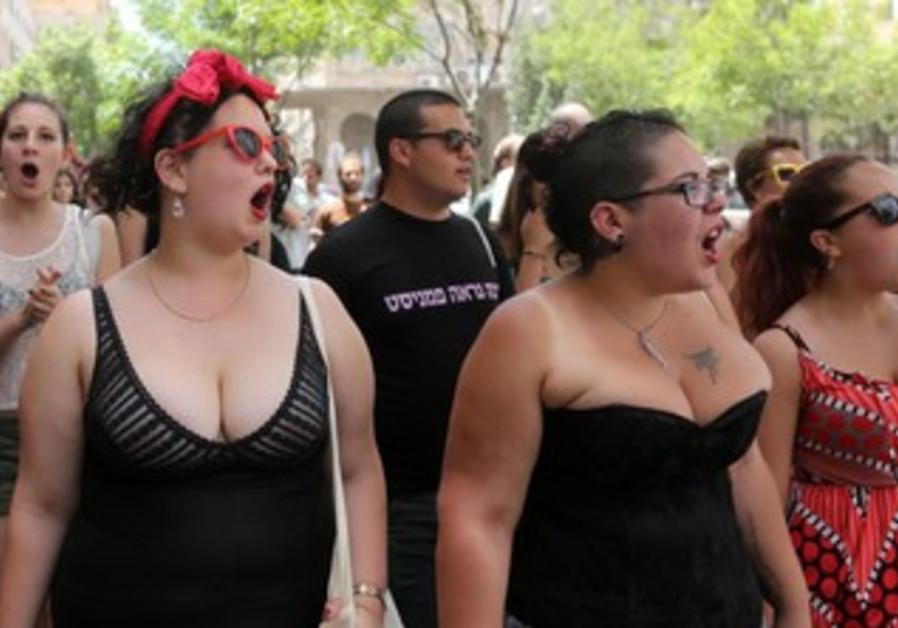 The second annual SlutWalk in Jerusalem May 31, 2013.