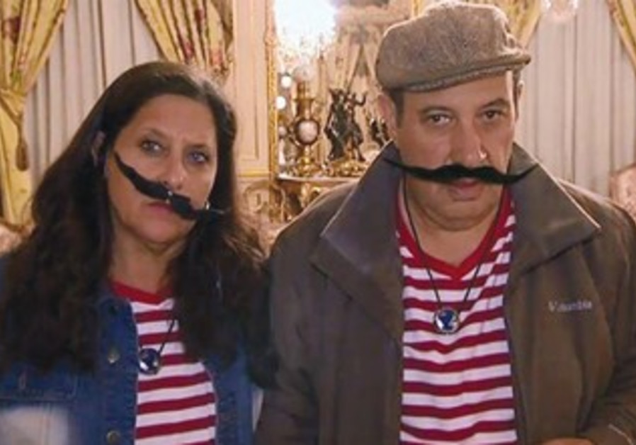 Andrea Simantov and Ronney Zaltzman at the Salvador Dali mansion.