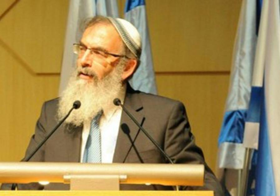 Rabbi David Stav at the Knesset