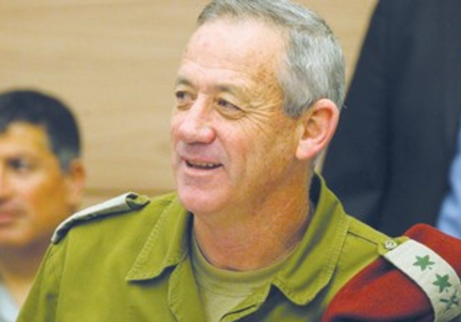 IDF Chief of Staff Lt.-Gen. Benny Gantz at the Hebrew University in Jerusalem.
