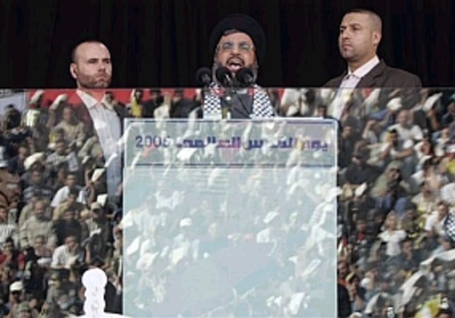 hassan nasrallah speech behind glass 298 ap