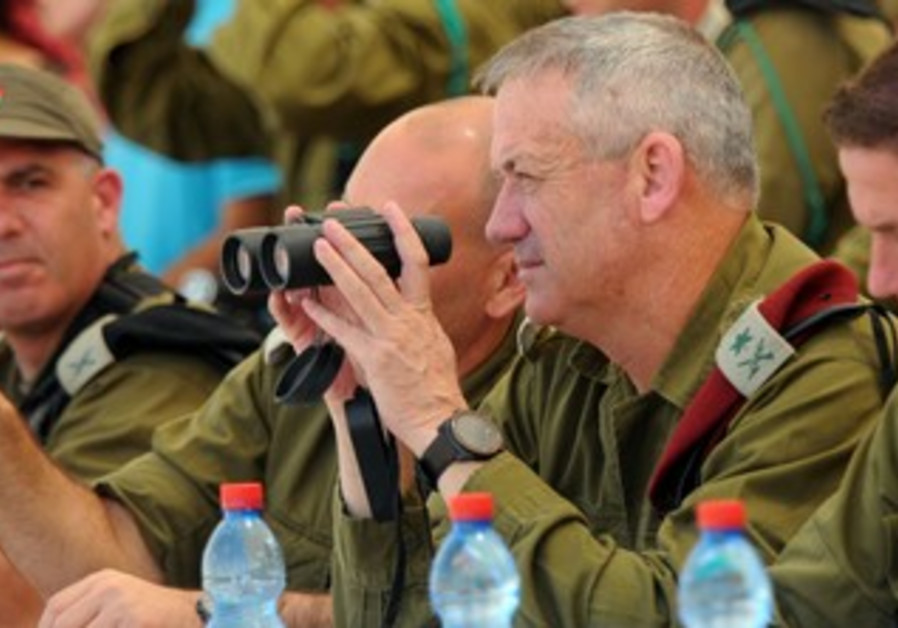 IDF Chief of Staff LtGen Benny Gantz meeting Cadets at Training Base 1, 4 June 2013.