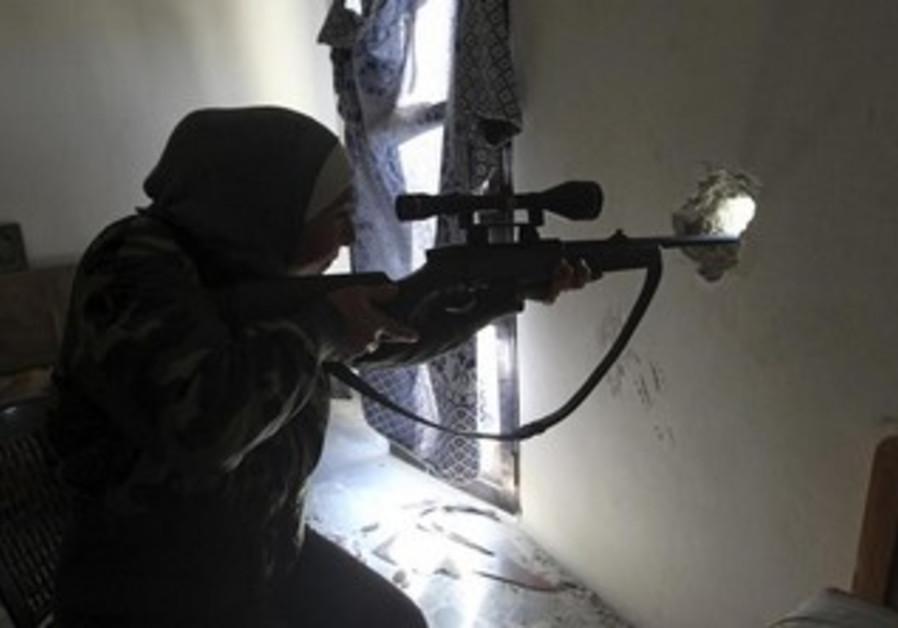 Syrian rebel women fighters