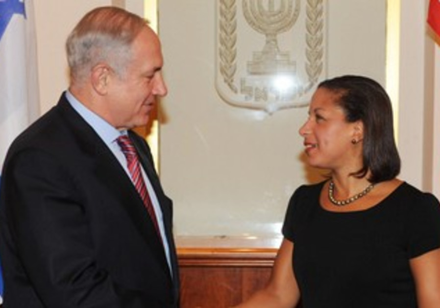 Susan Rice meets with PM Netanyahu in 2009.