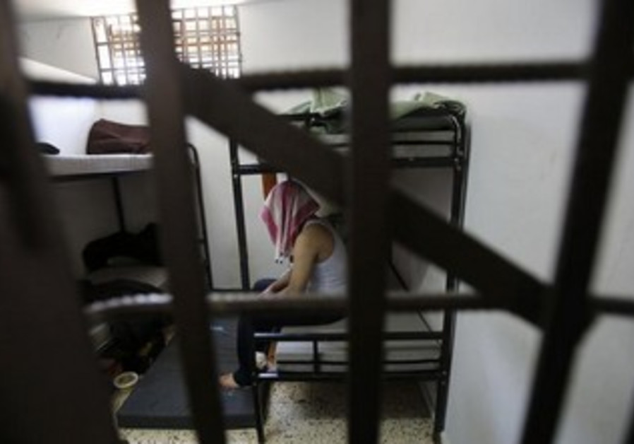 Palestinian collaborator in Hamas jail in Gaza [file].