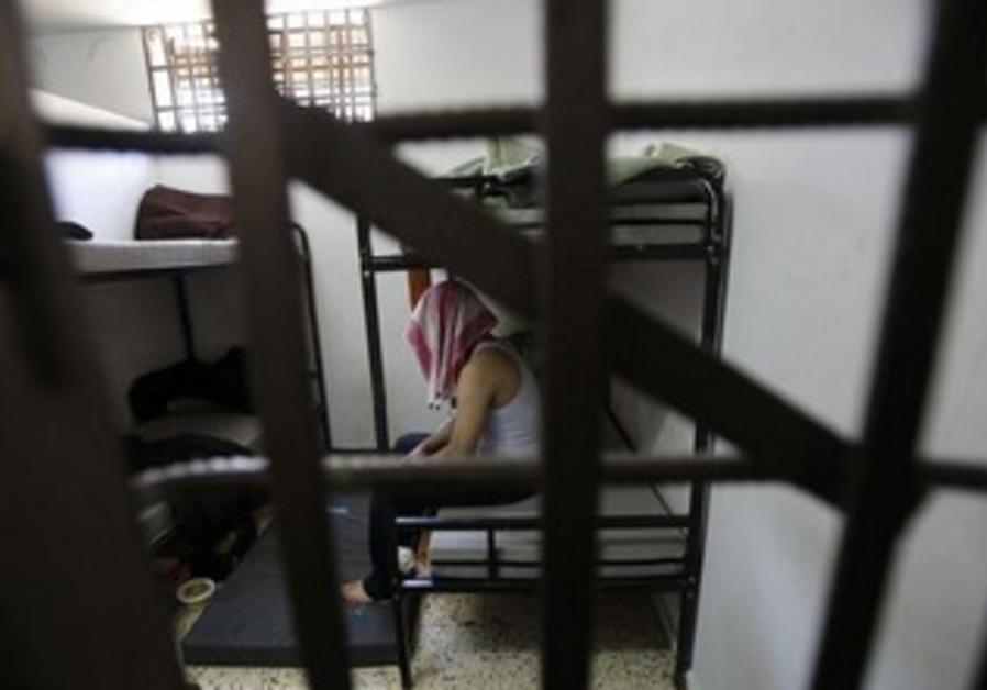 Palestinian collaborator in Hamas jail in Gaza [file].