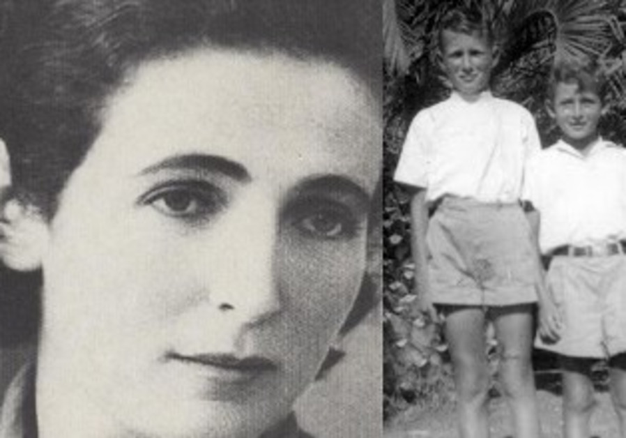 Fania Bergstein (left image), Gershon Israeli (left) with his cousin Ya'acov in Kibbutz Gvat.