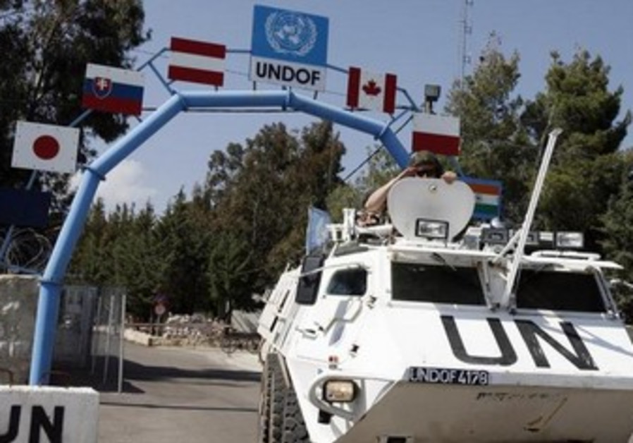UNDOF peacekeepers in the Golan Heights
