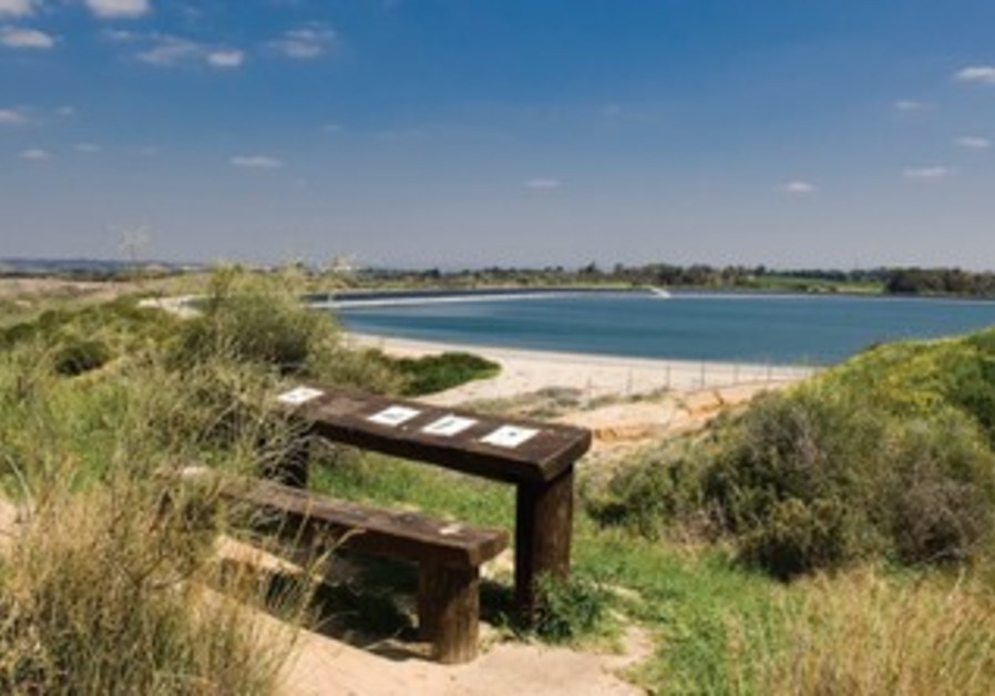 A RESERVOIR built by the KKL-JNF in Emek Hefer.
