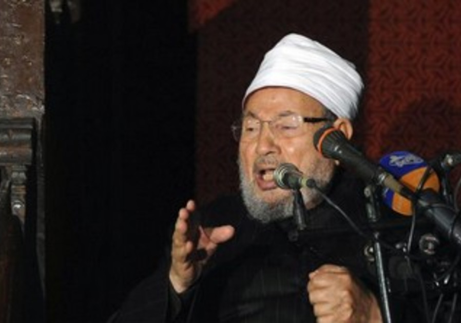 Egyptian Cleric Sheikh Yusuf al-Qaradawi, chairman of the International Union of Muslim Scholars.