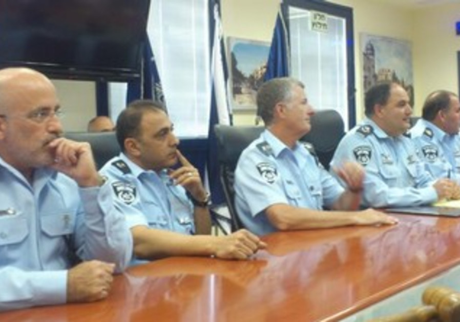 Tel Aviv police briefing press on Bar Noar investigation, June 10, 2013