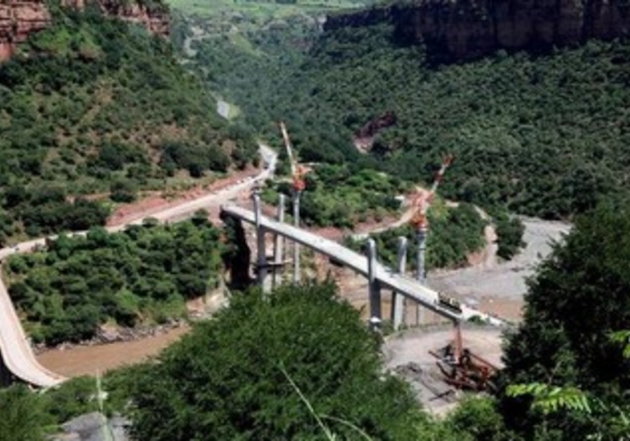 Abay bridge in Gorge, north of Addis Ababa, September 10, 2008.