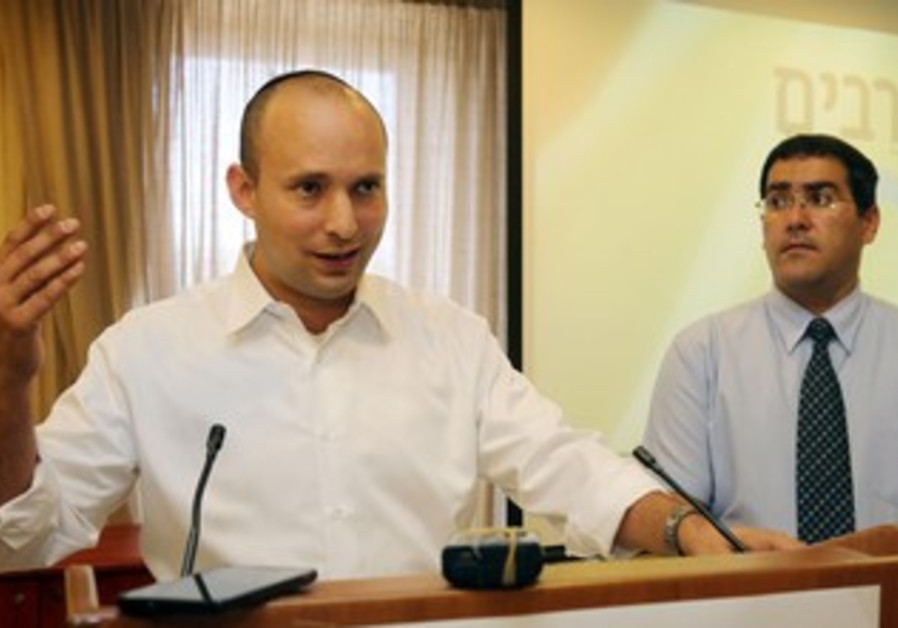 National service question and answer session with Economy and Trade Minister Naftali Bennett.