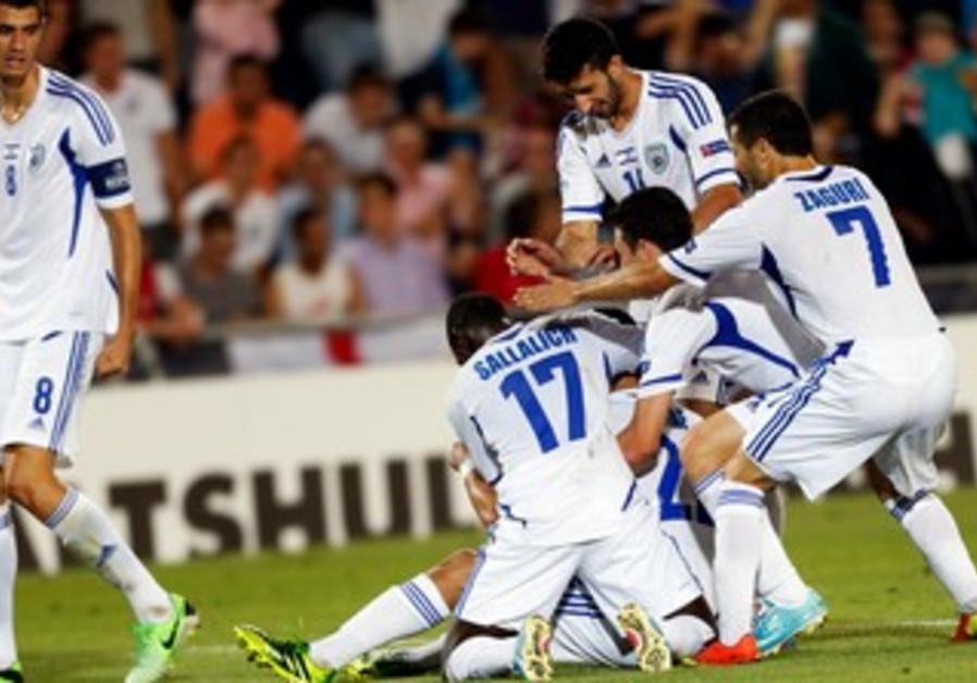 Israel beats England in European Under-21 championship action at Teddy Stadium in Jerusalem.