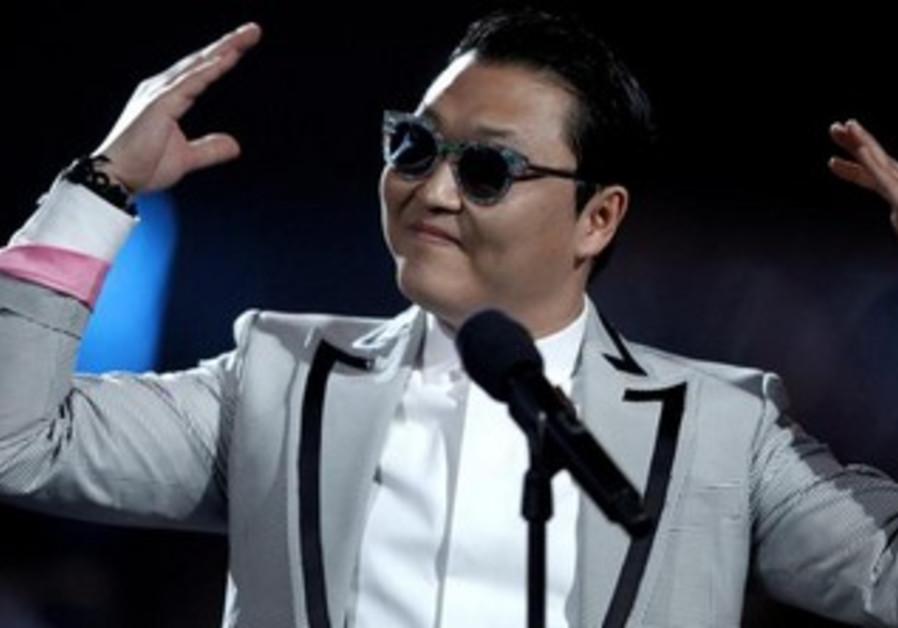 South Korean rapper Psy performs.