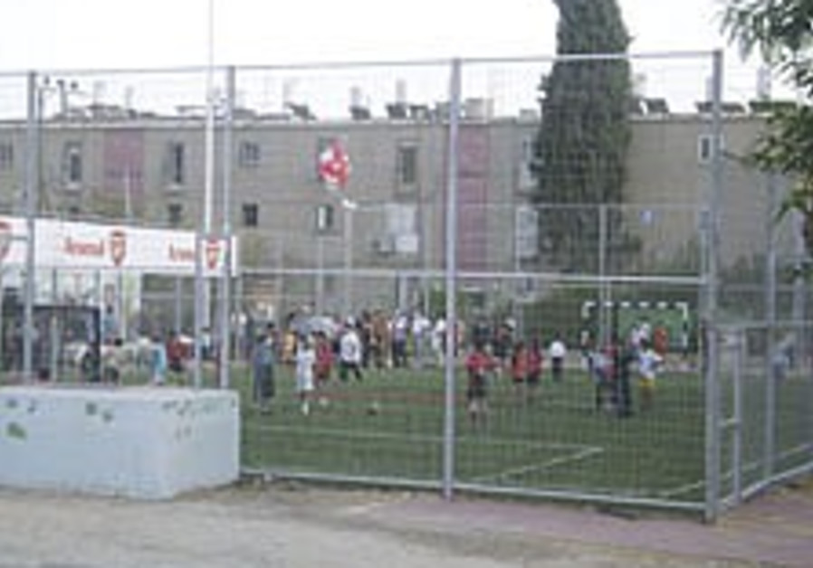 New soccer field brings hope to poor Beersheba district