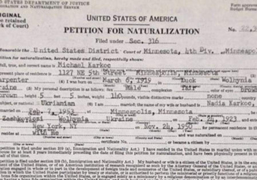 Michael Karkoc's Petition for Naturalization.