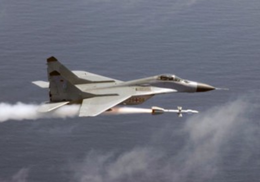 Soviet Union-made Mig 29 fighter jets are used by the Syrian Airforce.