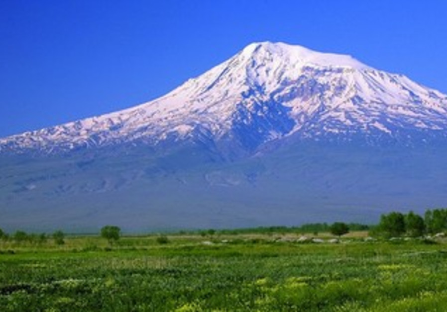 Great Ararat mountain in Turkey.