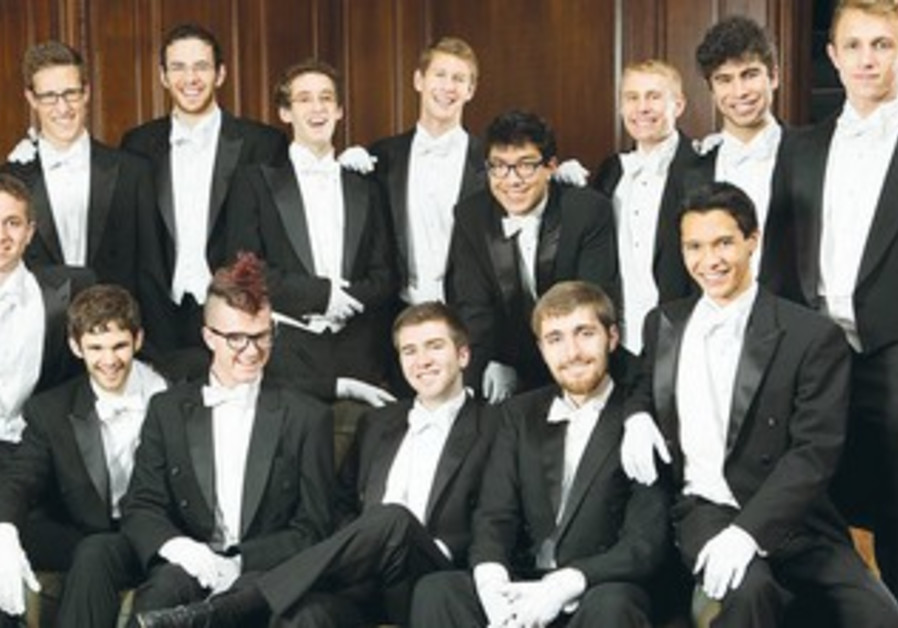 The Yale Whiffenpoofs will perform in Tel Aviv and Jerusalem.