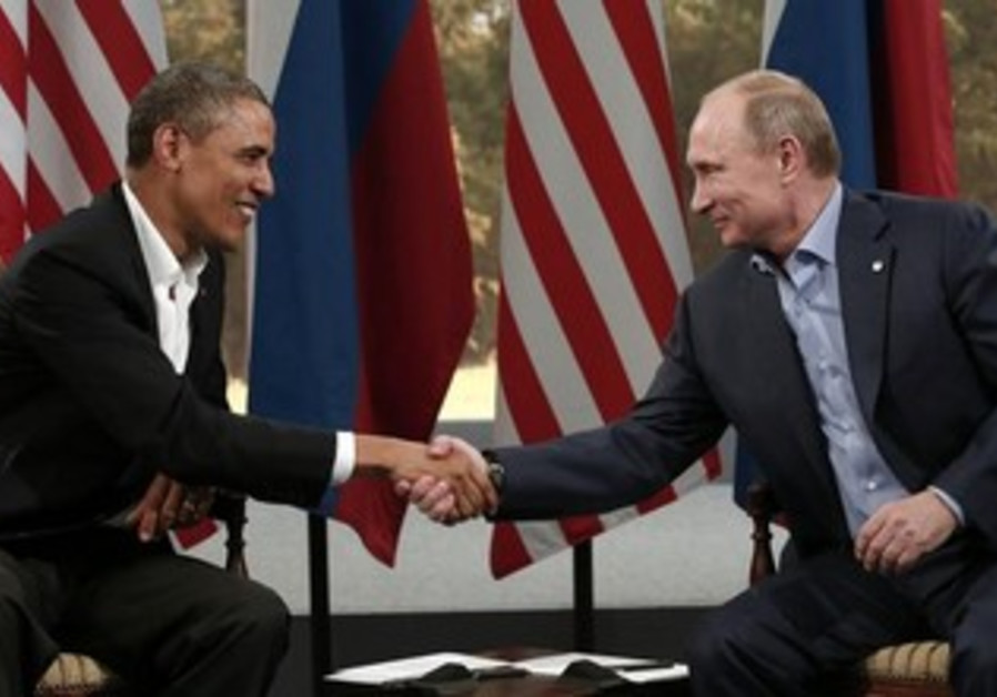 Obama meets with Putin during G8 Summit, Northern Ireland June 17, 2013.