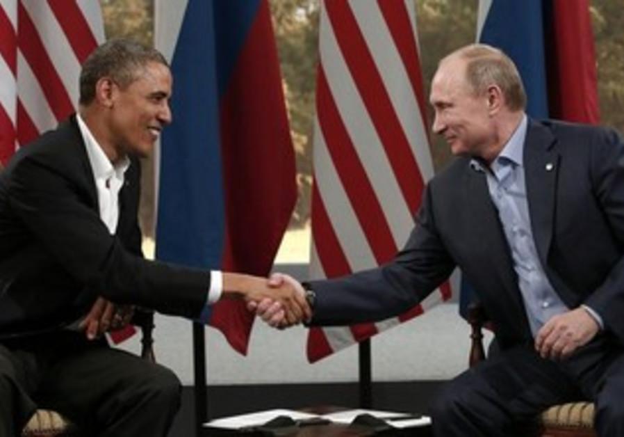 Obama meets with Putin during G8 Summit, Northern Ireland June 17, 2013.