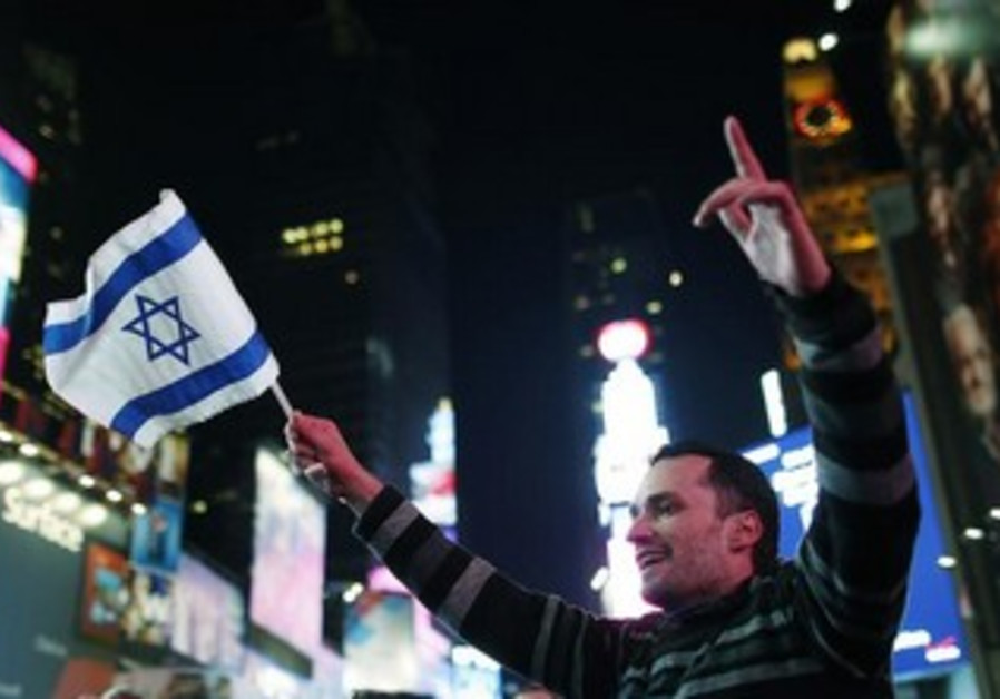 Pro-Israel supporter in New York City
