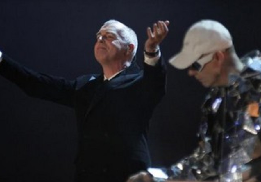 Neil Tennant (L) and Chris Lowe of Pet Shop Boys