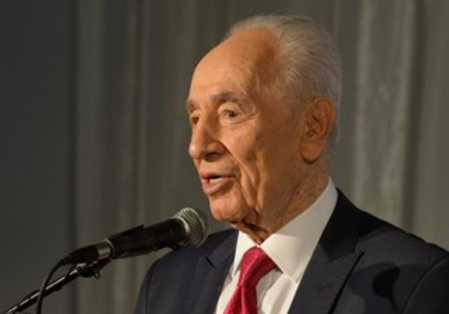 President Shimon at a building dedication at The Hebrew University of Jerusalem June 18, 2013.