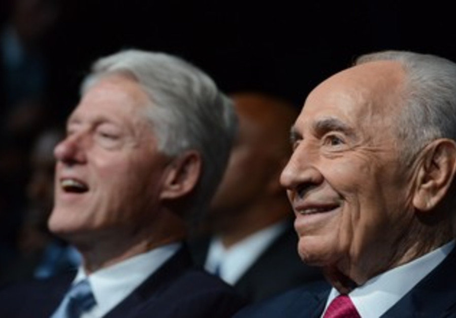 President Shimon Peres at his 90th birthday celebration June 18, 2013.
