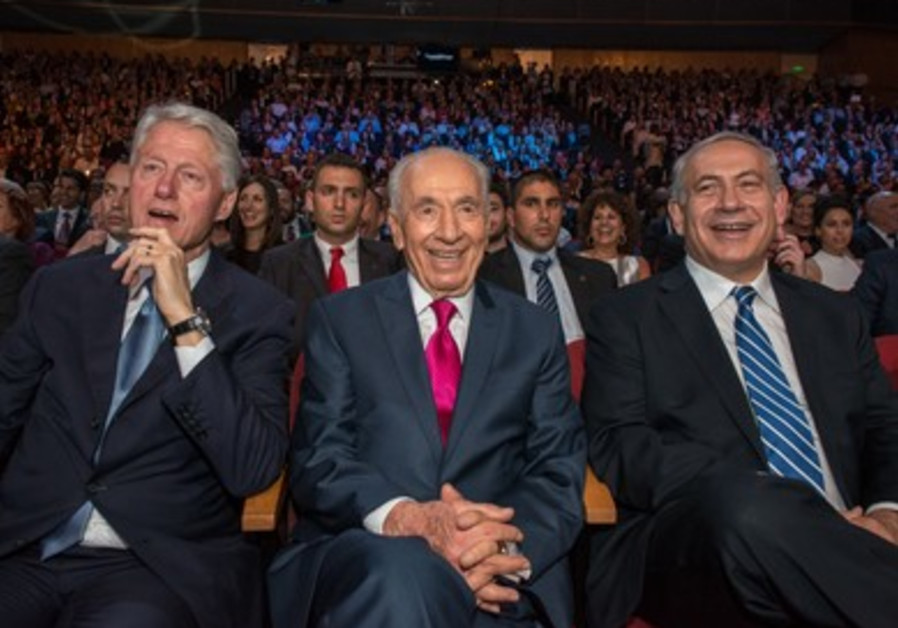 Shimon Peres is in good company at the 2013 President's Conference.