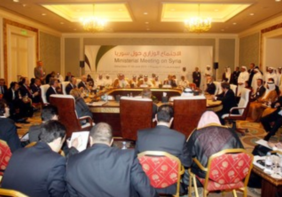 """""""Friends of Syria"""" meeting in Doha."""