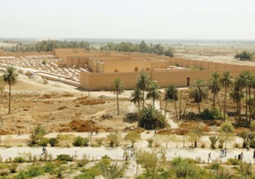 THE SITE of the ancient city of Bablyon in Iraq.
